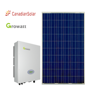 Kit Fotovoltaico (Growatt + Canadian) da 2 3 4 5 kW