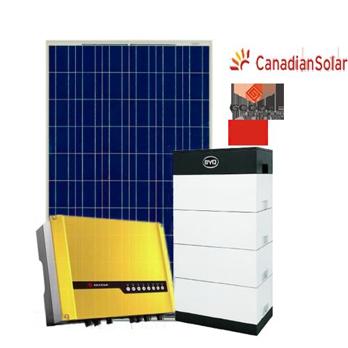 Kit di Accumulo (Goodwe + BYD + Canadian) da 5 kW