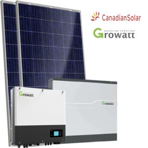 Kit di Accumulo (Growatt +Batteria Growatt + Canadian) da 3 4 6 kW