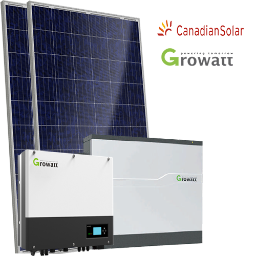 Kit di Accumulo (Growatt +Batteria Growatt + Canadian) da 3 4 6 kW